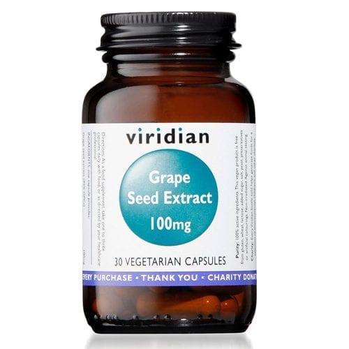 Viridian Grape Seed Extract 100mg 30 capsules