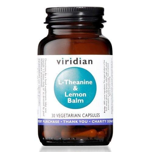 Viridian L-Theanine And Lemon Balm Capsules