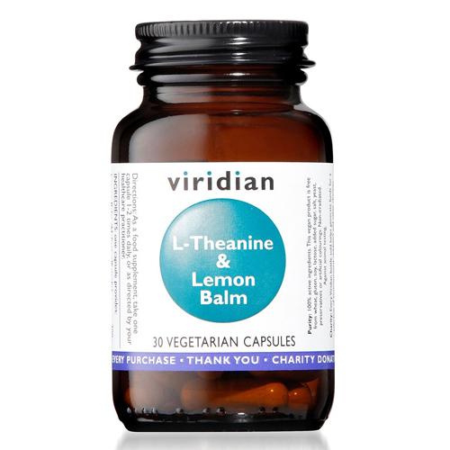 Viridian L theanine and Lemon balm 30 capsules