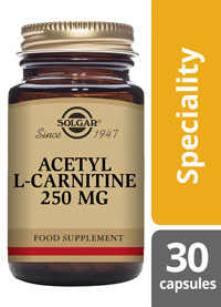 Solgar Acetyl-L-Carnitine 250 mg free form 30 Capsules