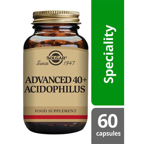 Solgar advanced 40+ acidophilus 60 capsules
