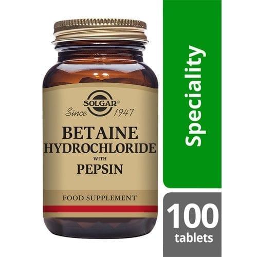 Solgar Betaine hydrochloride tablets