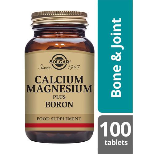 Solgar Calcium magnesium and boron 100 tablets