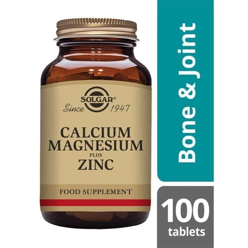 solgar calcium magnesium and zinc 100 tablets