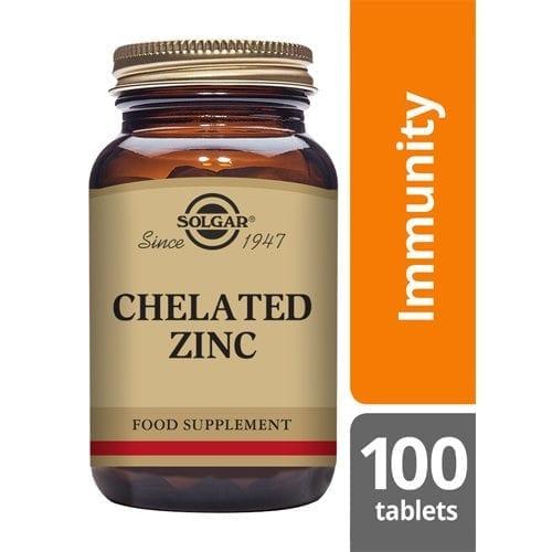 Solgar chelated zinc tablets