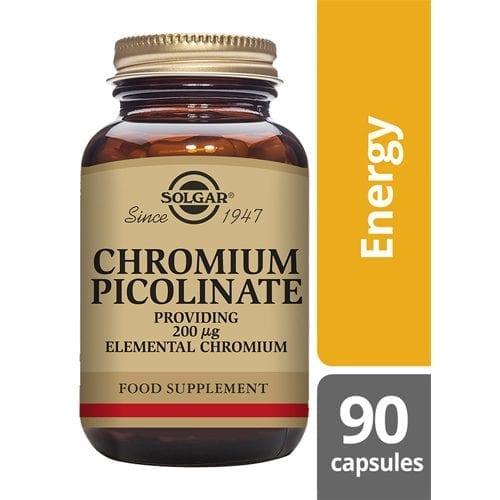 Solgar chromium 200mcg 90 capsules