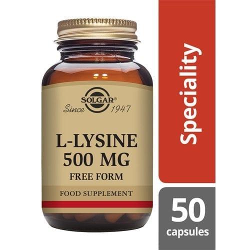 Solgar L-Lysine 500mg 50 Capsules