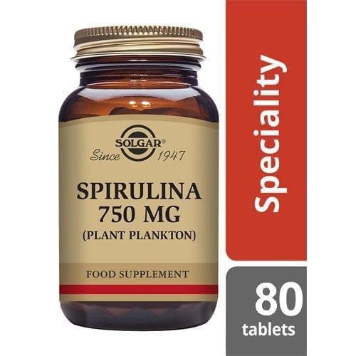 Solgar Spirulina 80 tablets
