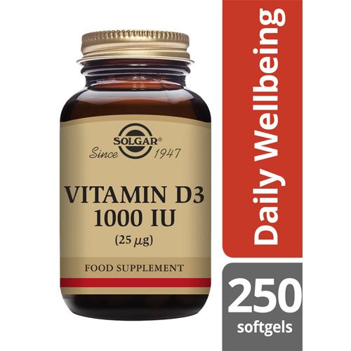 Solgar Vitamin D3 1000iu 250 softgels
