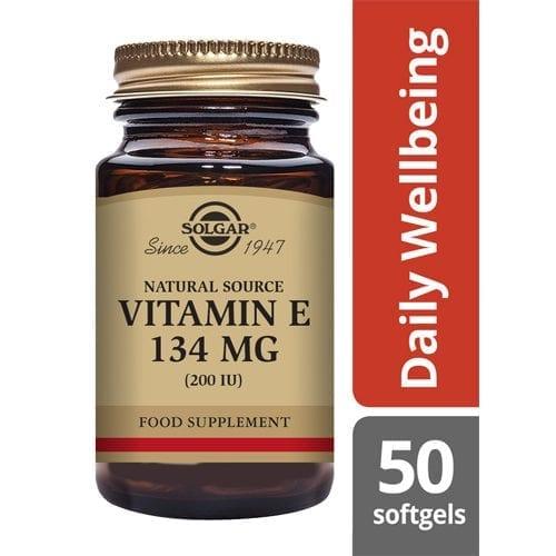 Solgar Vitamin E 200iu 50 vegetable softgels