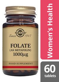 Solgar Folate 1000mcg 60 tablets