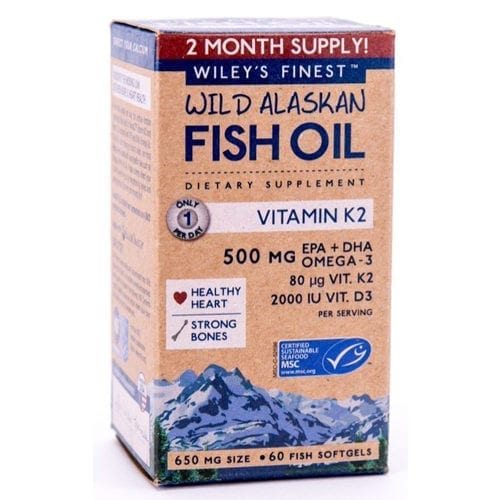 Wiley's Finest Fish oil and vitamin K2