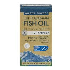 Wiley's finest Fish oil + K2 60 capsules