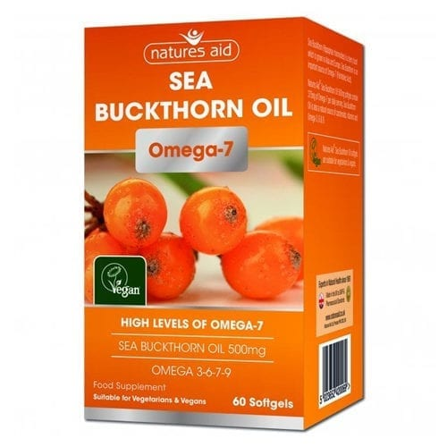 Natures Aid Sea Buckthorn oil capsules