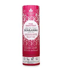 Ben and Anna Natural soda deodorant -Pink Grapefruit 60g
