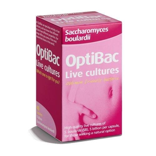 Optibac saccharomyces boulardii 40 capsules