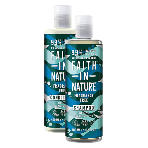 Faith unscented shampoo and conditioner