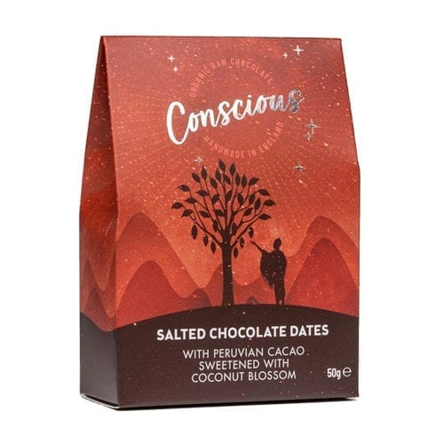 Salted chocolate coated dates