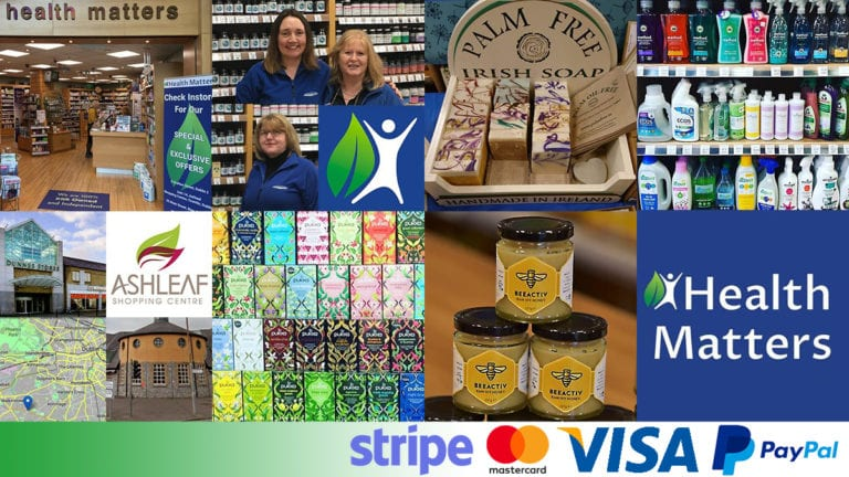 Health Matters Online Store: staff and product montage
