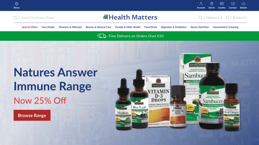 New Health Matters Website: Front Page