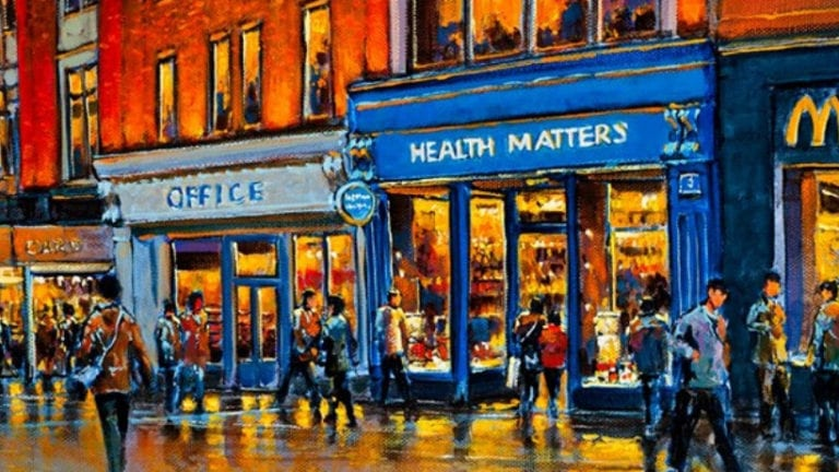 Health Matters Store, Grafton Street, Dublin (painting)