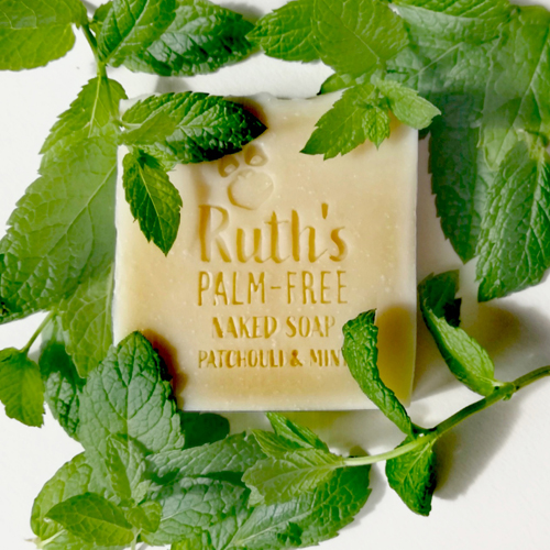 Ruths Naked Patchouli and Mint soap
