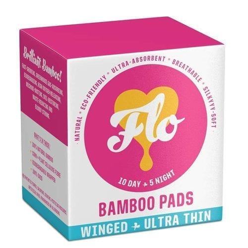 Flo bamboo pads 15 pack
