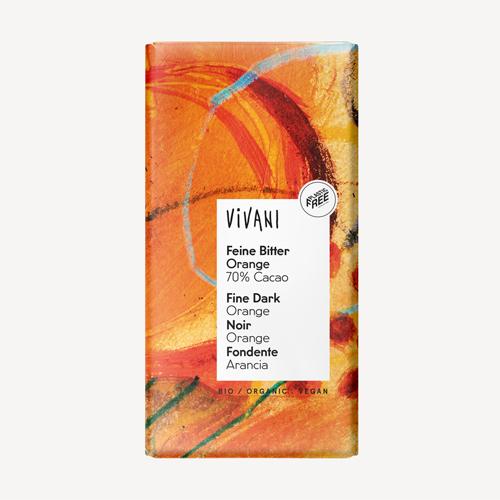 Vivani fine dark orange chocolate