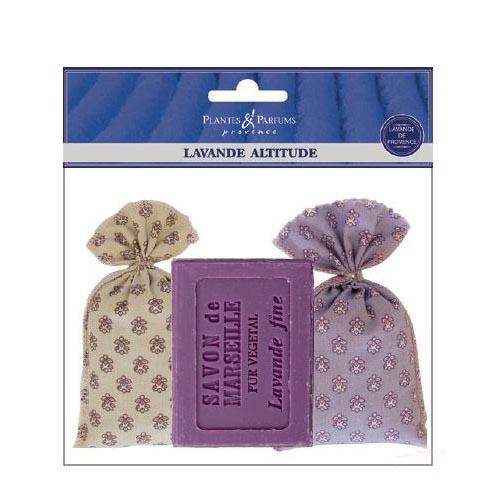 Plantes & Parfums Lavender soap and 2 floral bags