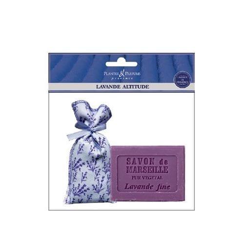 Plantes & Parfums Lavender soap and floral bag