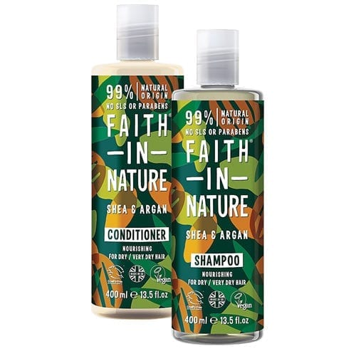 Faith In Nature Shea & Argan Shampoo With Free Conditioner