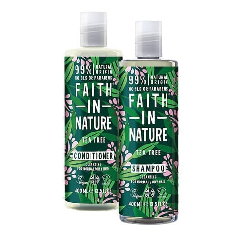 Faith In Nature Tea Tree Shampoo With Free Conditioner