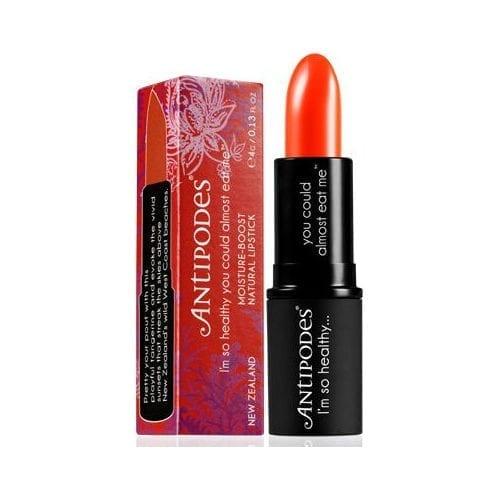 Antipodes Piha Beach Tangerine lipstick