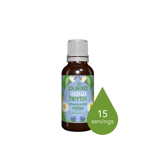 Pukka Aqua Herbs Chamomile Relax bottle