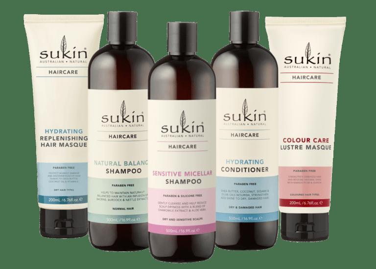 Sukin Haircare Range