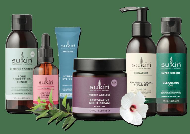 Sukin Skincare Range
